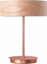 Lámpara de mesa de lujo comedor madera cobre