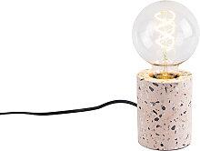 Lámpara de mesa diseño granito rosa - BARANDA