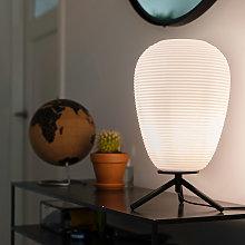 Lámpara de mesa diseño negro 24cm cristal