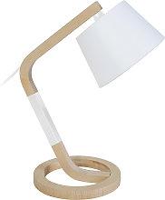Lámpara de mesa diseño pie círculo madera