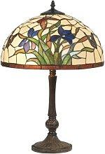 Lámpara de mesa Elanda estilo Tiffany