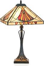 Lámpara de mesa elegante AMALIA estilo Tiffany