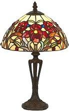 Lámpara de mesa ELINE clásica estilo Tiffany 40