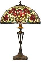 Lámpara de mesa Eline en estilo Tiffany