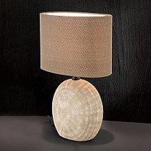 Lámpara de mesa Ethno 52 cm marrón, pie terracota