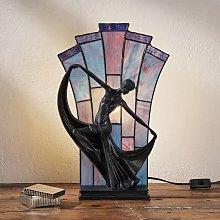 Lámpara de mesa Flamina en estilo Tiffany