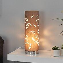 Lámpara de mesa Flora capuchino con adorno