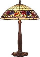 Lámpara de mesa Flora, Tiffany, abierto abajo 64cm