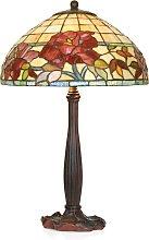 Lámpara de mesa hecha a mano Esmee, estilo Tiffany