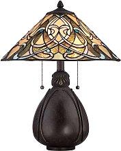 Lámpara de mesa India en diseño Tiffany