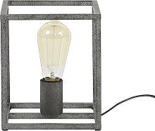 Lámpara de mesa industrial en metal acabado