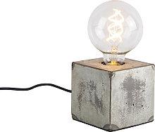 Lámpara de mesa industrial gris - SAMIA SABO
