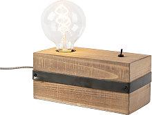 Lámpara de mesa industrial madera - REENA