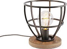 Lámpara de mesa industrial negra - ARTHUR