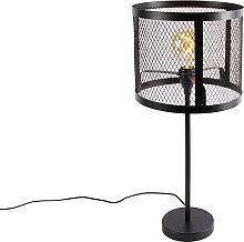Lámpara de mesa industrial negra - CAGE Robusto