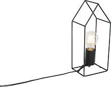 Lámpara de mesa industrial negra - HISO