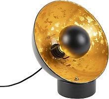 Lámpara de mesa industrial negra/oro - MAGNA Eglip