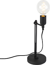 Lámpara de mesa industrial negra - SLIDE