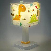 Lámpara de mesa infantil Dinos con diseño angular
