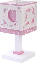 Lámpara de mesa infantil Moonlight, rosa