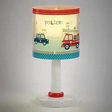 Lámpara de mesa infantil Policia con motivo