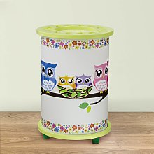 Lámpara de mesa infantil verde Búho
