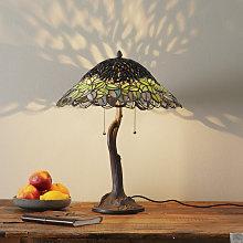 Lámpara de mesa Jamaica, estilo Tiffany