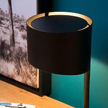 Lámpara de mesa Knulle de metal, negro