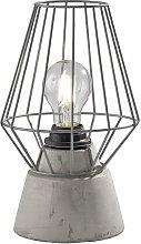Lámpara de mesa lámpara de mesa gris lámpara de