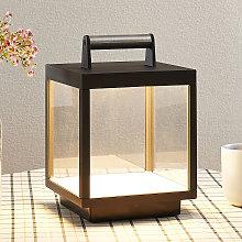 Lámpara de mesa LED Cube para exterior, recargable