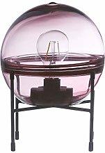 Lámpara de mesa led de cristal con forma de bola