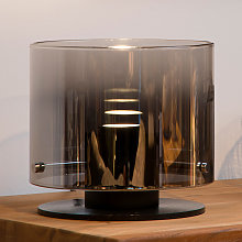 Lámpara de mesa LED Owino con efecto espejo