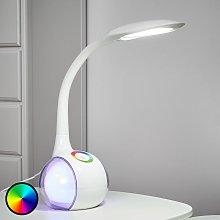 Lámpara de mesa LED Paula, blanco