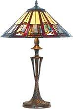 Lámpara de mesa Lillie en estilo Tiffany