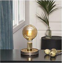 Lámpara de mesa MAGIC con acabado en oro marrón
