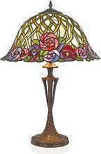 Lámpara de mesa Melika en estilo Tiffany