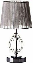 Lámpara de mesa metal-cristal plata 17,50 x 17,50