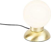 Lámpara de mesa moderna dorada regulador LED -