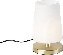 Lámpara de mesa moderna latón táctil LED - MAGMA