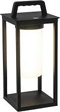 Lámpara de mesa moderna negra recargable LED -
