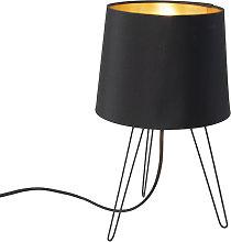 Lámpara de mesa moderna negro - LOFTY