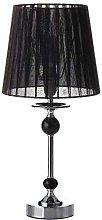 Lámpara de mesa negro metal/acrílico 20 x 20 x