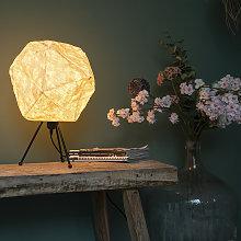 Lámpara de mesa papel escandinavo blanca - PEPA