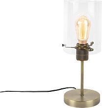 Lámpara de mesa romántica bronce cristal - DOME