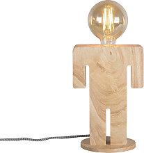 Lámpara de mesa rústica madera - ADAM
