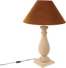 Lámpara de mesa rústica terciopelo naranja -