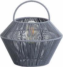Lámpara de Mesa Shaoran Gris 24x24x25cm 7hSevenOn