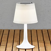 Lámpara de mesa solar LED blanca Assisi Sitra