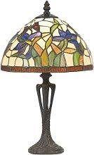 Lámpara de mesa sutil ELANDA, estilo Tiffany 41 cm