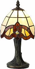 Lámpara de mesa Tiffany BHelios 1 Bombilla Ámbar